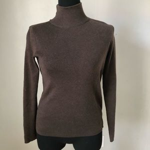 Peruvian Connection Brown Turtleneck Sweater sz M
